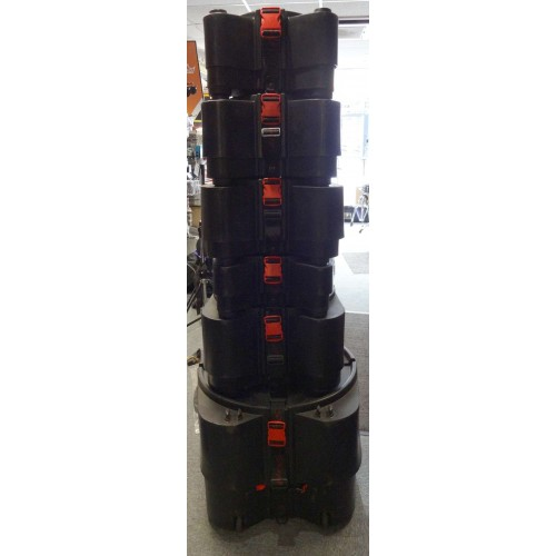 "Stagg STC Hard Cases 8"", 10"", 12"", 14,""14"" Snare, 20"" RRP £562.25 (Pre-owned)"