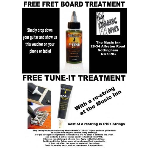 Free Fret board treatment & Tune it Lubricant